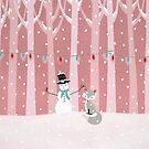 Fox - Snowman - Forest by Cristina Bianco Design