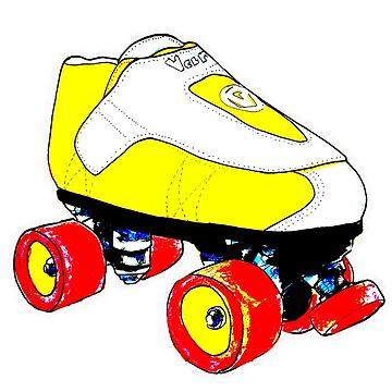 yellow pop art skate by brandydevoid