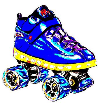 Blue pop art skate by brandydevoid