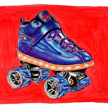 blue pop skate by brandydevoid