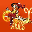 Aries Zodiac Witch by evocaitart