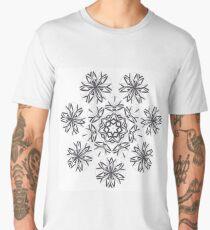 Lite on Dark Monochrome Blast Fall Into Winter Design by Green Bee Mee Men's Premium T-Shirt