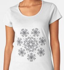Lite on Dark Monochrome Blast Fall Into Winter Design by Green Bee Mee Women's Premium T-Shirt