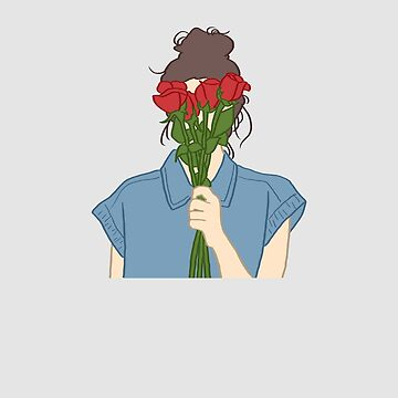 Red Roses Blue Shirt by WordvineMedia