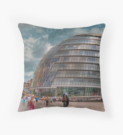 City Hall: London. Throw Pillow