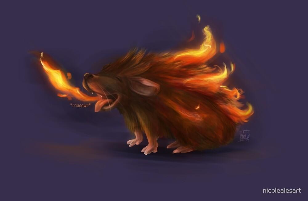 Fire Hedgehog by nicolealesart