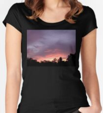 Sunset 2 Women's Fitted Scoop T-Shirt
