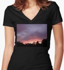 Sunset 2 Women's Fitted V-Neck T-Shirt