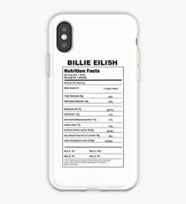 billie eilish / nutrition facts iPhone Case