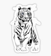 Stately White Tiger Sticker