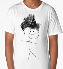 #face #lineart #blackandwhite #facialexpression #head #eye #sketch #plant #monochrome #illustration #art #tree #nature #chalkout #abstract #design #leaf #vertical #blackcolor #drawingartproduct Long T-Shirt