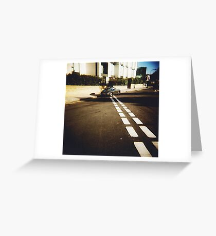 white line fever Greeting Card