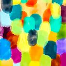 Watercolor Thumbprints by Deana Greenfield