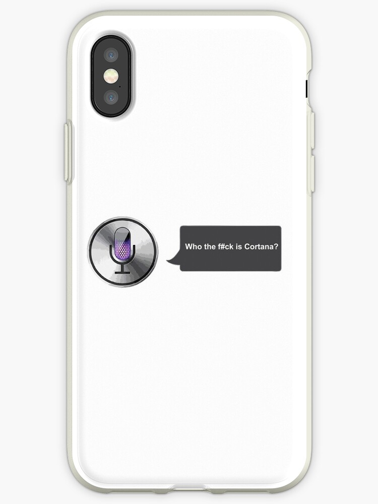 'Apple Siri Voice Funny ' iPhone Case by Mintdog