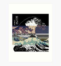 Lámina artística la falla de color de la gran ola
