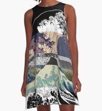 the great wave color glitch  A-Line Dress