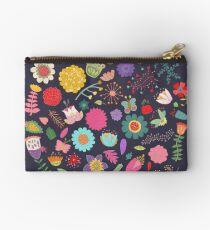Heller farbiger Blumen-Blumenmuster-Muster-Hintergrund Täschchen