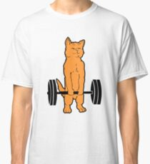 'Cat Deadlift Powerlifting' Awesome Cats Gym Gift Classic T-Shirt