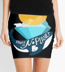Arctic polar bear whale and nature conservation illustration  Mini Skirt
