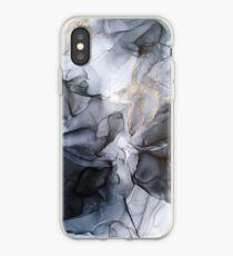 Ruhig aber dramatisch leicht einfarbig schwarz & grau abstrakt iPhone-Hülle & Cover