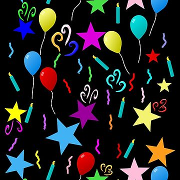 Party Balloons and Stars Pattern by Gravityx9
