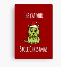 'The Cat Who Stole Christmas' (Red Edition) Canvas Print