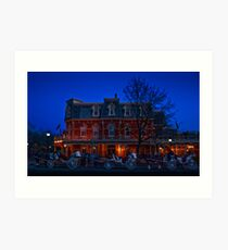 Prince of Wales Hotel at night Art Print