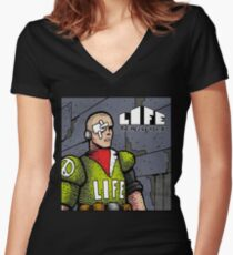 Life The Necropolis: Eye  Women's Fitted V-Neck T-Shirt