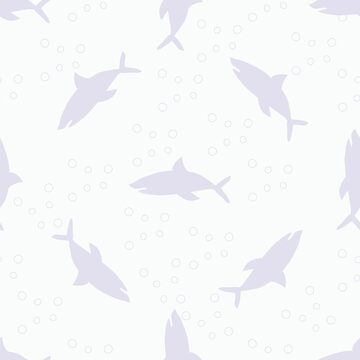 The pattern of silhouettes of sharks by NataliaL