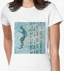 Manchester Is Blue Women's Fitted T-Shirt