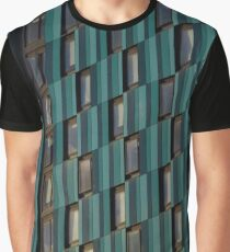 Turquoise & Blue Tower Block Graphic T-Shirt
