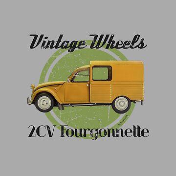 Vintage Wheels - Citroën 2CV Fourgonnette by DaJellah