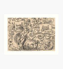 bestiary Art Print