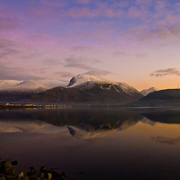 Ben Nevis at twighlight by ropedope