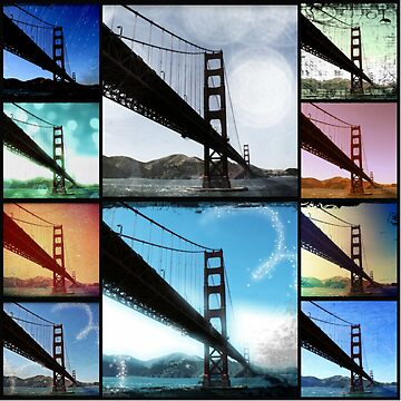 Golden Gate Bridge colorful Photo Collage by stine1