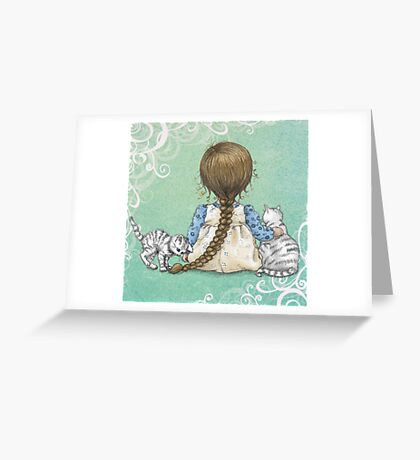 playfull kitten Greeting Card
