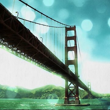 Green Bokeh Golden Gate Bridge in San Francisco by stine1