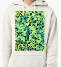 geometric triangle pattern abstract in green blue black Pullover Hoodie