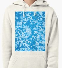 geometric triangle pattern abstract in blue Pullover Hoodie