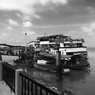 Ferry on the Mekong river by TeAnne