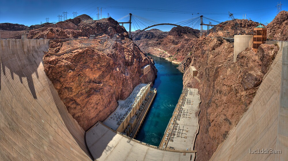 Hoover Dam -- The Other Side by luc1ddr3am