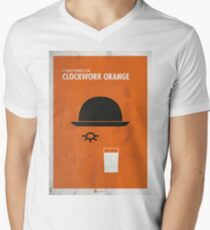 Uhrwerk Orange Filmplakat T-Shirt mit V-Ausschnitt für Männer