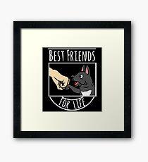 French Bulldog Best Friends For Life Framed Print
