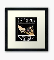 German Shepherd Best Friends For Life Framed Print