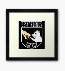 Goat Best Friends For Life Framed Print