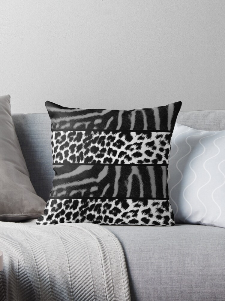 Black and white animal print stripes by chihuahuashower