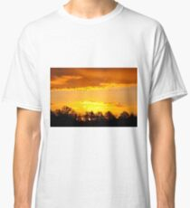 A Flock of Geese in A Golden Sky Classic T-Shirt
