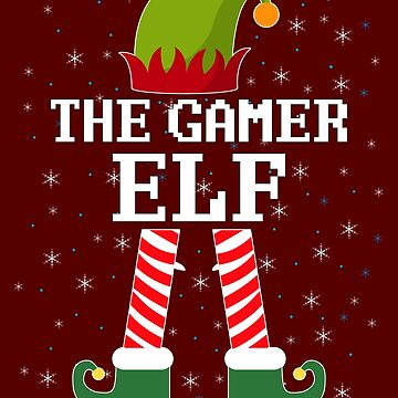 Gamer Elf Funny Christmas Elves by pbng80
