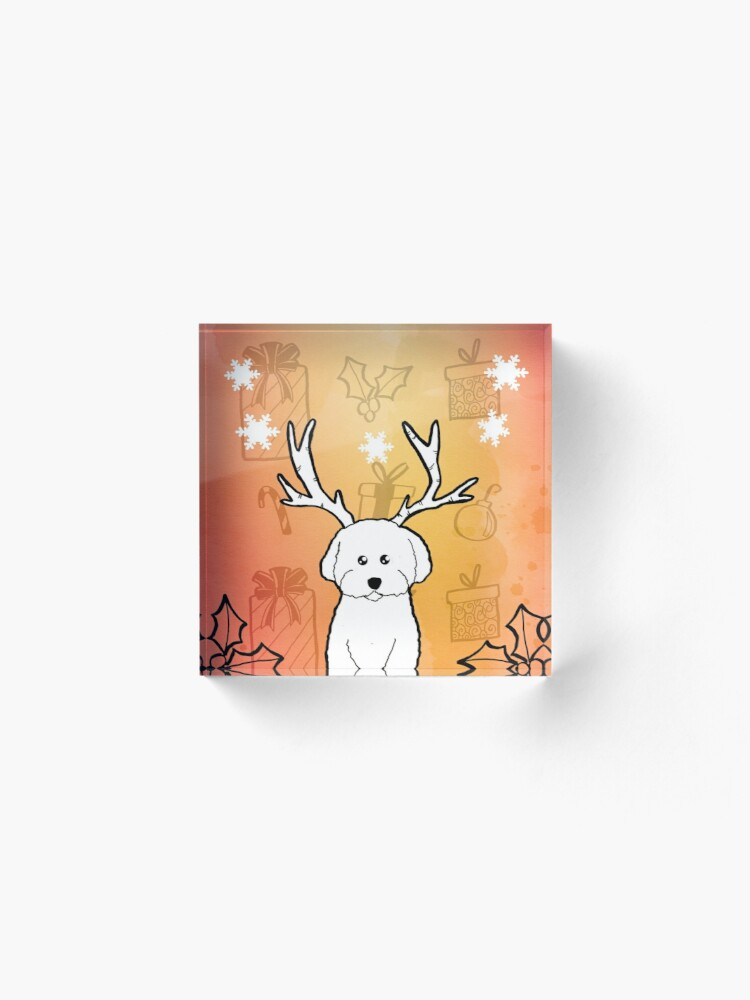 Alternate view of Merry Woofmas Acrylic Block