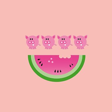 pigs love watermelon  by natalietyler